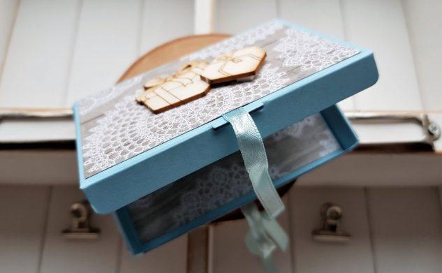 288. Świąteczne pudełeczko na kartę podarunkową