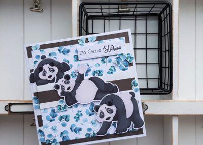 Kartka z misiem pandą