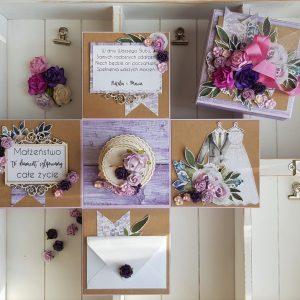 Box ślubny w fiolecie