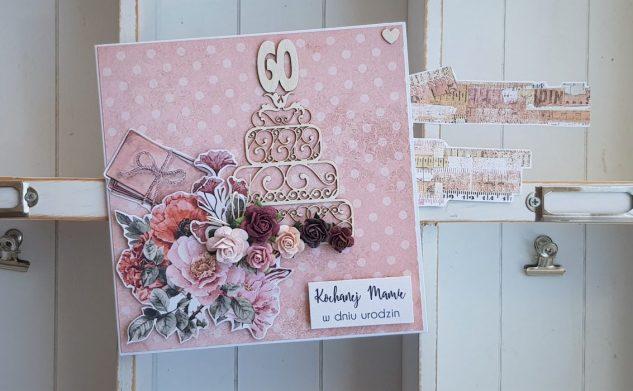 566. Kwiatowa kartka urodzinowa dla Mamy