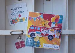 Kartka urodzinowa z Psim Patrolem
