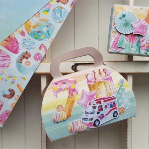 Urodziny dziewczynki - torebka na cukierki i pudełeczko