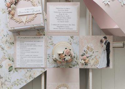 Ślubny box z tortem
