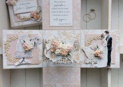 Box ślubny w pastelowym różu