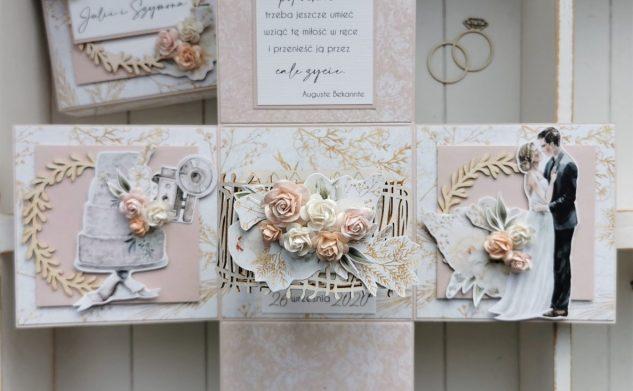 661. Box ślubny w pastelowym różu