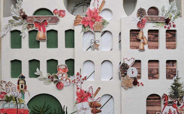 680. Tradycyjne kamieniczki bożonarodzeniowe