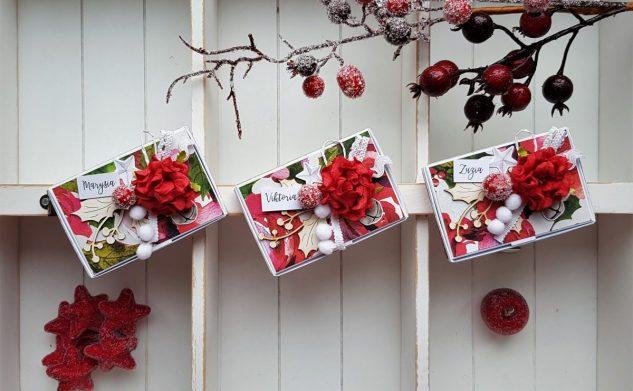 296. 3 świąteczne pudełeczka